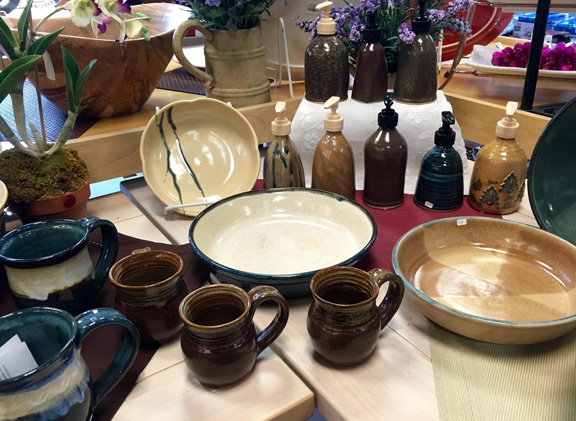 Ann Hess Pottery at Gourmet Pantry